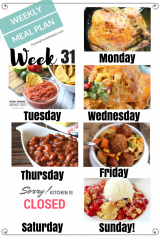 Easy Weekly Meal Plan Week 31