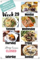 Easy Weekly Meal Plan Week 29