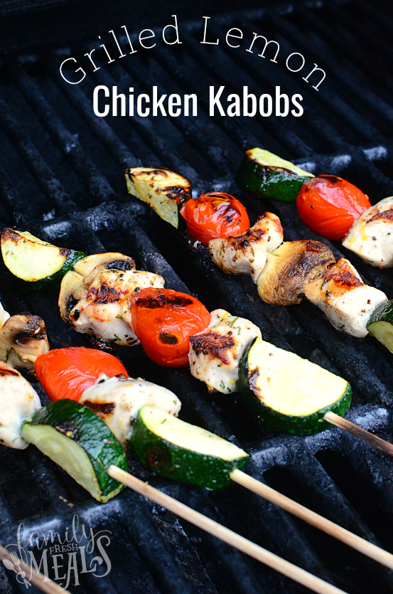 Grilled Lemon Chicken Kabobs Recipe - Family Fresh Meals