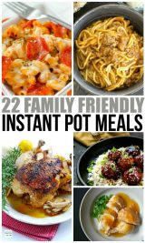 Family Friendly Instant Pot Meals