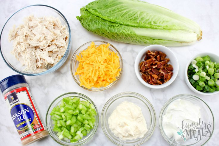 Loaded Chicken Salad - Ingredients