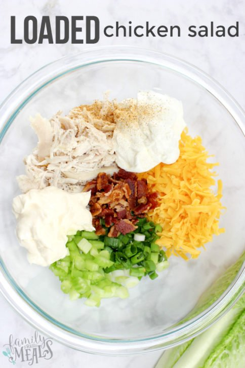 Loaded Chicken Salad Recipe - Family Fresh Meals