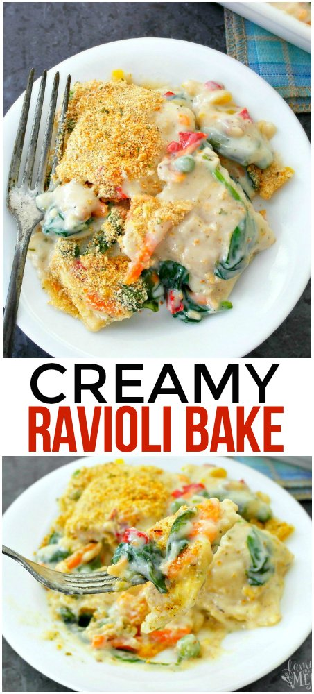 Creamy Ravioli Bake - Family Fresh Meals
