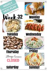 Easy Weekly Meal Plan Week 32