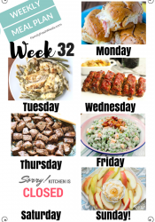 Easy Weekly Meal Plan Week 32