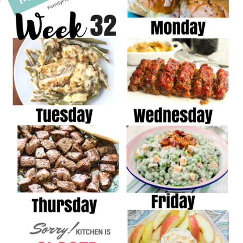Easy Weekly Meal Plan Week 32 - Family Fresh Meals
