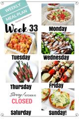 Easy Weekly Meal Plan Week 33