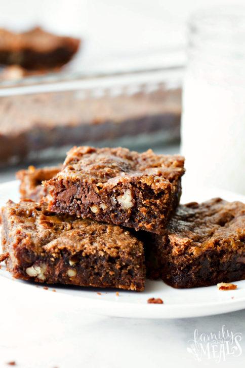 Mom's Killer Caramel Brownies Yummy Recipe - Family Fresh Meals