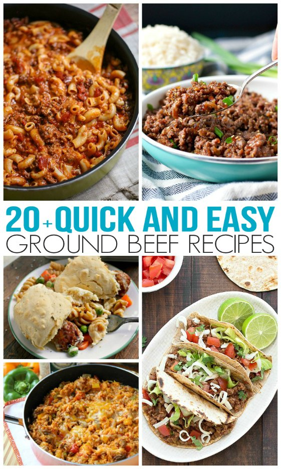 Quick and easy ground beef recipes family fresh meals for Easy things to make for dinner for two