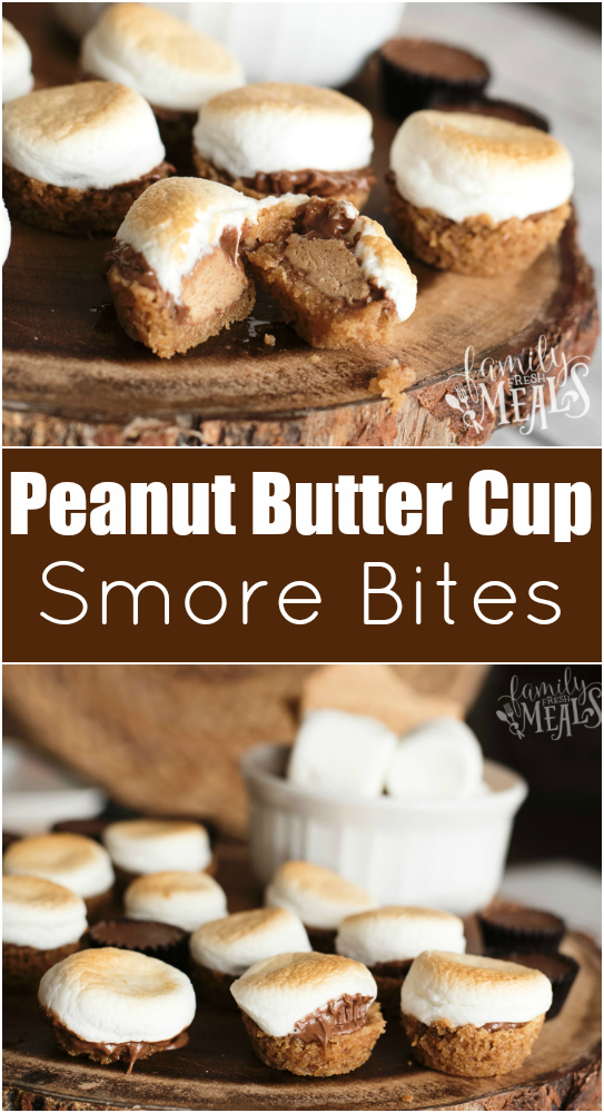Peanut Butter Cup Smore Bites Recipe -- Family Fresh Meals