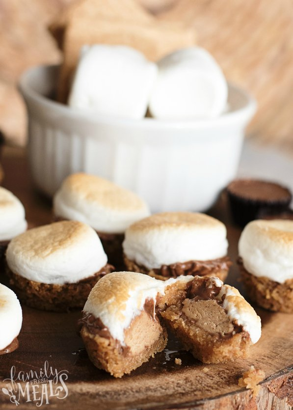 Peanut Butter Cup Smore Bites Recipe - Family Fresh Meals