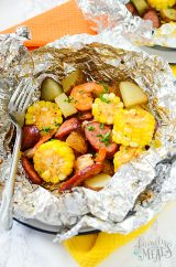 Shrimp and Sausage Foil Packets