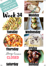 Easy Weekly Meal Plan Week 34