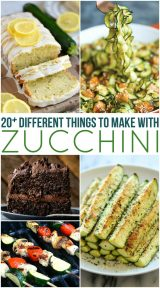 20 Different Zucchini Recipes