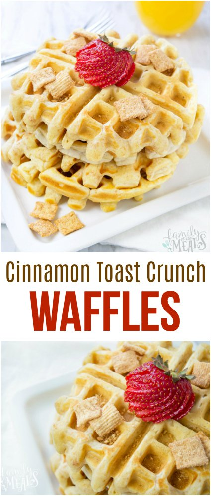 Cinnamon Toast Crunch Waffles Recipe - Family Fresh Meals