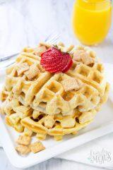Cinnamon Toast Crunch Waffles
