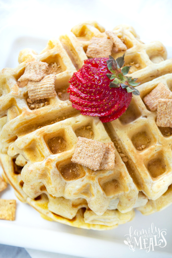 Cinnamon Toast Crunch Waffles Recipe - Family Fresh Meals Fun Breakfast!