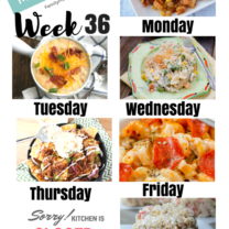 Easy Weekly Meal Plan Week 36