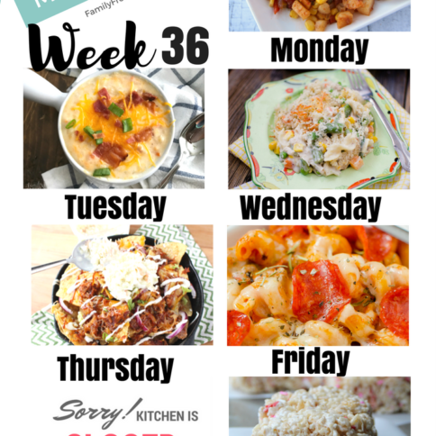 Easy Weekly Meal Plan Week 36 - Family Fresh Meals