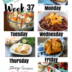 Easy Weekly Meal Plan Week 37