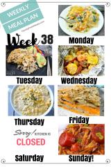 Easy Weekly Meal Plan Week 38