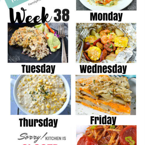 Easy Weekly Meal Plan Week 38 - Family Fresh Meals