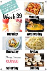 Easy Weekly Meal Plan Week 39