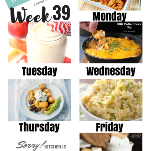 Easy Weekly Meal Plan Week 39 - Family Fresh Meals