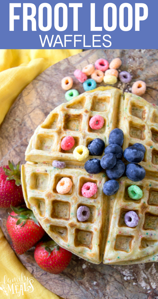 Froot Loop Waffles - Family Fresh Meals