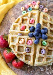Froot Loop Waffles