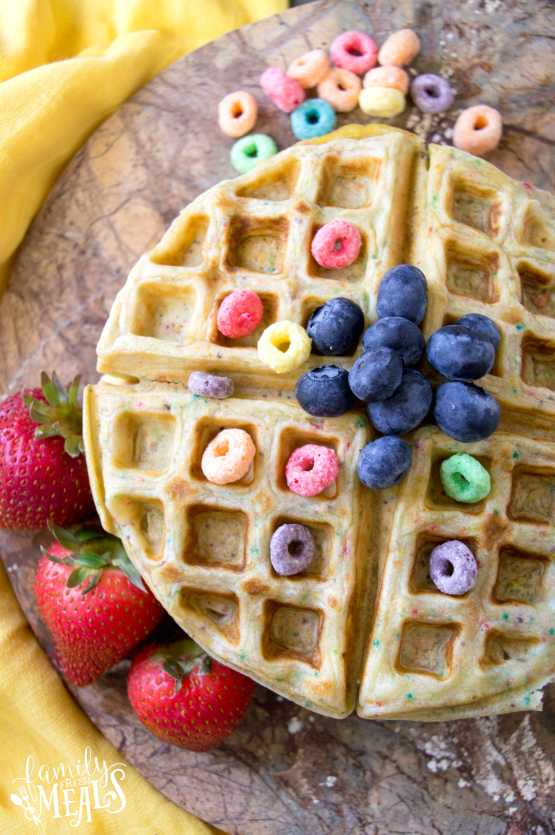 Froot Loops Waffles - Recipe - Family Fresh Meals