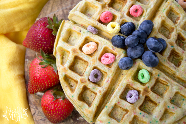 Froot Loops Waffles - Step 5