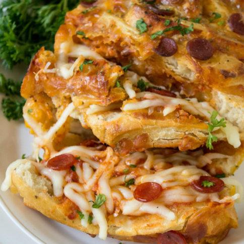 Pull Apart Pizza Bread Recipe - Family Fresh Meals