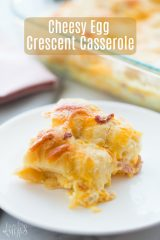 Cheesy Egg Crescent Roll Casserole