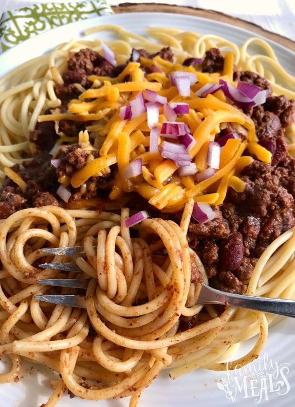 Crockpot Cincinnati Chili - Family Fresh Meals