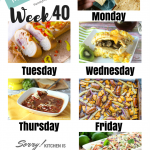 Easy Weekly Meal Plan Week 40