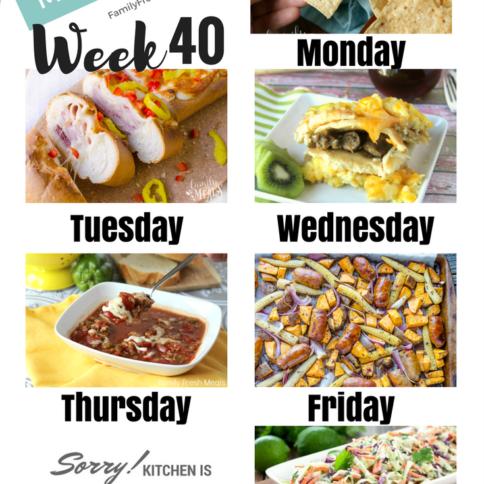 Easy Weekly Meal Plan Week 40 - Family Fresh Meals