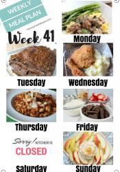 Easy Weekly Meal Plan Week 41