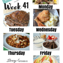 Easy Weekly Meal Plan Week 41
