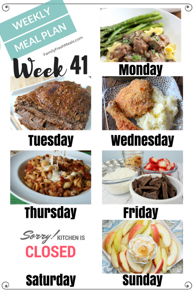 Easy Weekly Meal Plan Week 41 - Family Fresh Meals