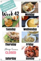Easy Weekly Meal Plan Week 42
