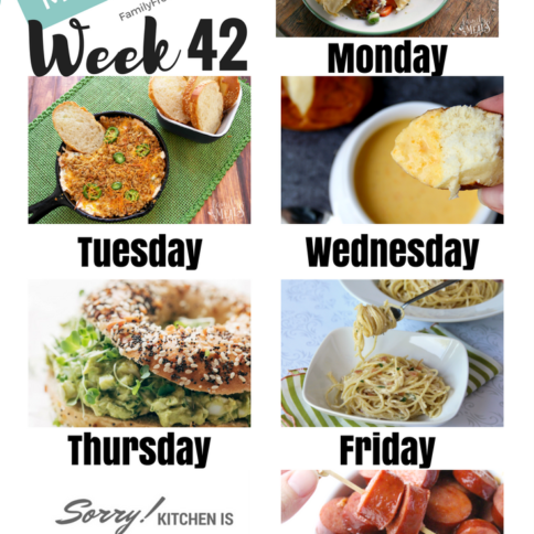 Easy Weekly Meal Plan Week 42 - Family Fresh Meals