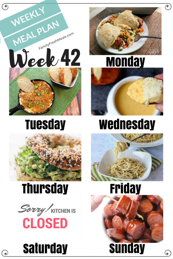 Easy Weekly Meal Plan Week 42 - Family Fresh Meals