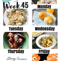 Easy Weekly Meal Plan Week 45
