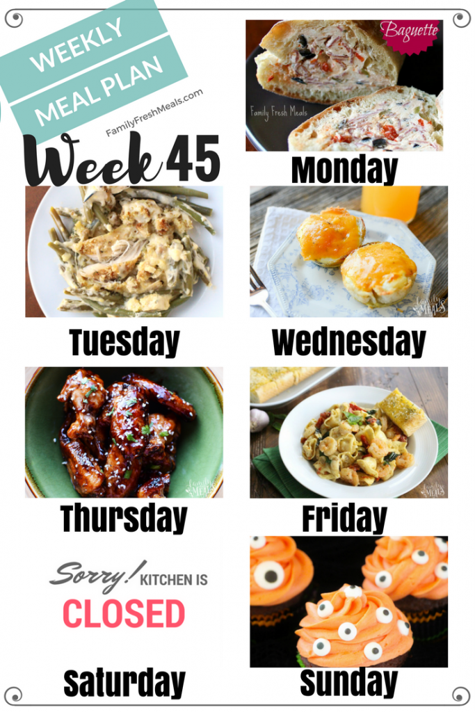 Easy Weekly Meal Plan Week 45 - Family Fresh Meals