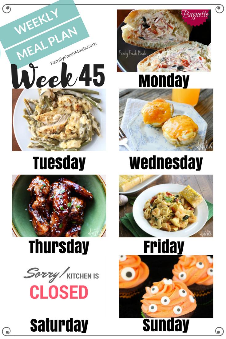 Easy Weekly Meal Plan Week 45 Family Fresh Meals