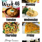 Easy Weekly Meal Plan Week 46