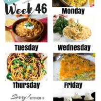 Easy Weekly Meal Plan Week 46