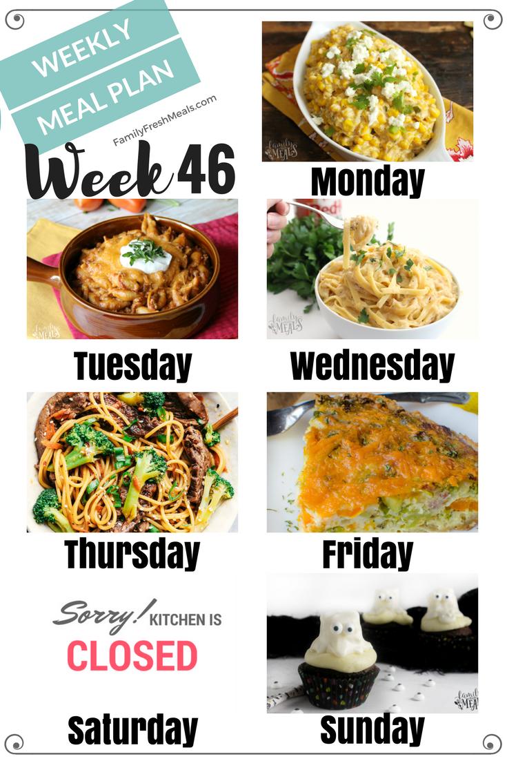 Easy Weekly Meal Plan Week 46 Family Fresh Meals