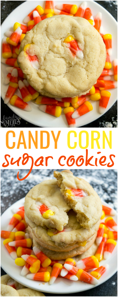 Candy Corn Sugar Cookie Recipe -- Family Fresh Meals -